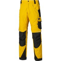 Machine Mart Xtra Dickies DP1000 Pro Trousers Yellow/Black 38 Short