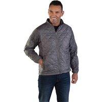 Aqua Aqua Lightweight Quilted Interactive Jacket XL Grey
