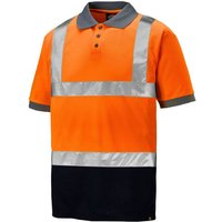 Click to view product details and reviews for Dickies Dickies Hi Vis Two Tone Polo Shirt Orange Navy.