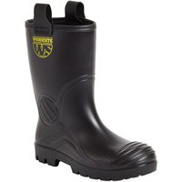 Click to view product details and reviews for Worksite Black Fur Lined Waterproof Groundwater Rigger Boot Sizes 8 To 12.