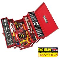 Click to view product details and reviews for Clarke Clarke Cht641 199 Piece Diy Tool Kit With Cantilever Tool Box.