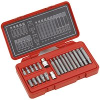 Clarke Clarke PRO168 22 piece Ribe Bit Set with 3/8 and 1/2 Square drive Adaptors