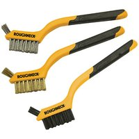 Machine Mart 3 Piece Soft Grip Mini Wire Brush Set