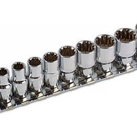 Machine Mart Xtra Laser 3592 13 piece 1/4 Drive Alldrive Socket Set 4-14mm