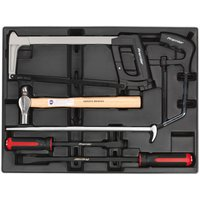 Machine Mart Xtra Sealey TBT30 6 Piece Tool Tray with Prybar, Hammer and Hacksaw Set