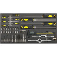 Sealey Sealey S01132 48 Piece Tool Tray with Tap and Die, File and Caliper Set