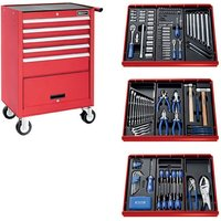 Machine Mart Xtra Britool E220321B 207 Piece Tool Kit & Tool Chest - Red