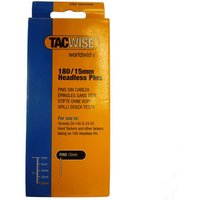 Tacwise Tacwise 180 15mm Headless Pin-type Nails