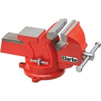 Clarke Clarke CVR4RB 100mm Workshop Vice (Swivel Base, Red)