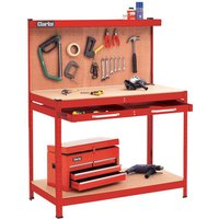 Price Cuts Clarke CWB-R1 Workbench (Red)