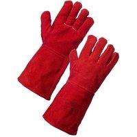 Rodo Rodo Red Welding Gauntlet Gloves