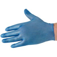 Click to view product details and reviews for National Abrasives National Abrasives Disposable Vinyl Unpowdered Gloves – Blue M.