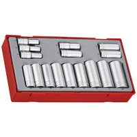 "Teng Teng TT3816 16 Piece 3/8"" Deep Metric Socket Set"