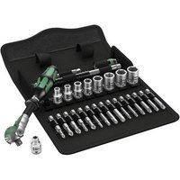 Machine Mart Xtra Wera Zyklop 8100 SA9 Ratchet and Socket Set, 1/4 Drive 28 Piece
