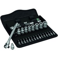 Machine Mart Xtra Wera Zyklop 8100 Sa10 Slim Ratchet Set, 1/4 Drive 28 Pieces