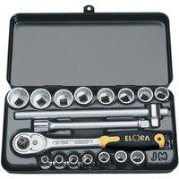 "Elora Elora 870 JMU 18 Piece 3/8"" Sq. Dr. Metric Socket Set"