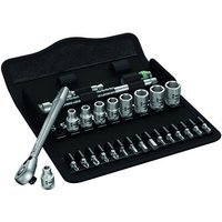 Wera Wera 8100 SA 8 28 piece Zyklop Metal-Switch Ratchet and Socket Set 1/4 Drive