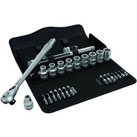 Wera Wera 8100 SC 8 28 piece Zyklop Metal-Switch Ratchet Socket Set 1/2 drive