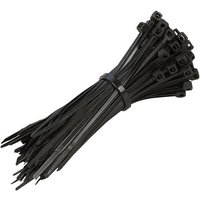 Machine Mart 100 Pack Black Cable Tie Set 200mm