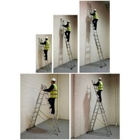 Machine Mart Xtra Zarges Skymaster Combination Ladder 3x9 Rung