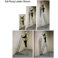 Machine Mart Xtra Zarges Skymaster Combination Ladder 3x14 Rung