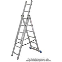 Machine Mart Xtra Lyte Cl9 9 Tread Aluminium Combination Ladder