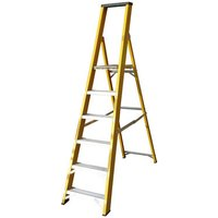 Machine Mart Xtra Lyte GFBP6 6 Tread Glassfibre Platform Step Ladder