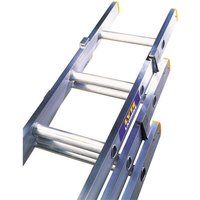Machine Mart Xtra Lyte ELT325 3 Section Trade Extension Ladder 2.42m-5.22m