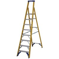 Werner Werner Fibreglass Platform Stepladder Trade 8 Tread