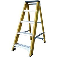 Machine Mart Xtra Lyte GFBB5 5 Tread Glassfibre Swingback Step Ladder