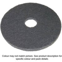 National Abrasives Floor Cleaning Pads 18 Black 5 Pack