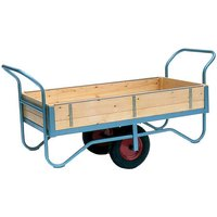 Barton Storage Barton Storage BT/9132/PT/RB Double Handle Four Sided Trolley With Pneumatic Wheels