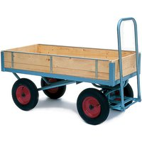 Machine Mart Xtra Barton Storage MPT/1102/PT/RB Platform Trolley With 400mm Pneumatic Wheels & Slide