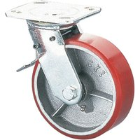 Clarke ML536-1 125mm Heavy Duty Swivel & Brake Castor - PU