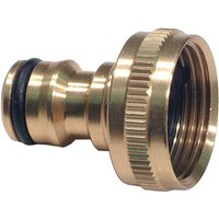 Machine Mart Brass Tap Hose Connector