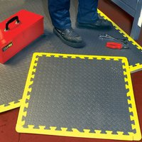 Clarke Clarke Anti Fatigue Foam Floor Tiles - Pack Of 6