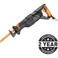 New Evolution Rage 8 Multi Material Reciprocating Saw with 4 Bi Metal Blades  230V