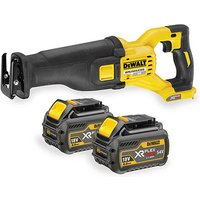 DeWalt XR FlexVolt DeWalt XR Flexvolt DCS388N 54V Reciprocating Saw with 2x6 0Ah Batteries
