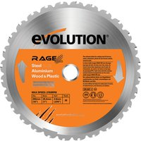 Evolution Evolution RAGE 255mm Replacement Multi Purpose TCT Blade
