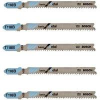 Bosch Bosch T118B Jigsaw HSS Jigsaw Blades 5 Pack