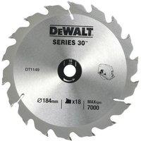 DeWalt DeWalt DT1251QZ 184mm Circular Saw Blade