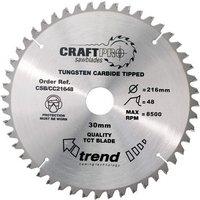 Trend Trend CSB21648   48T  CraftPro  Saw Blade 216mm