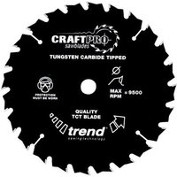 Trend Trend CSB16524T - 24T CraftPro Saw Blade 165mm