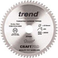 Trend Trend CSB CC21660 216mm Circular Saw Blade