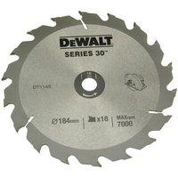 DeWalt DeWalt DT1943 QZ Circular Saw Blade 190x30mm 18T