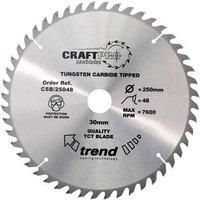 Trend Trend CSB25048 - 48T CraftPro TCT Saw Blade 250mm