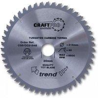 Trend Trend CSBCC26072 - 72T CraftPro Saw Blade 260mm