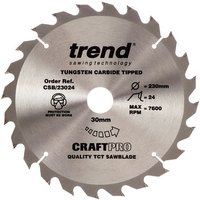 Trend Trend CSB 23024 Craft Saw Blade 230x30mm 24T