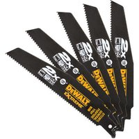 DeWalt DeWalt DT2301L-QZ 152mm Reciprocating Saw Blades 10 TPI (Pack Of 5)