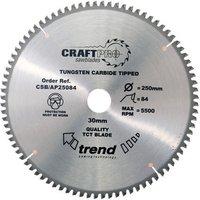 Trend CSBAP25084   84T  CraftPro  Saw Blade 250mm